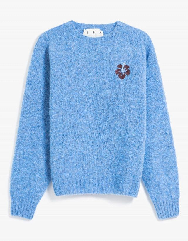 Trademark Embroidered Shetland Sweater