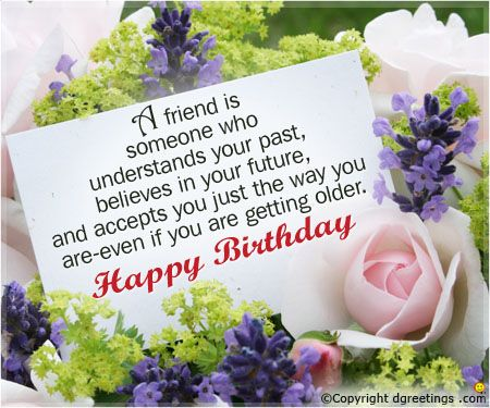 Happy Birthday Message Good Friend ~ A friend birthday card g greetings blessings