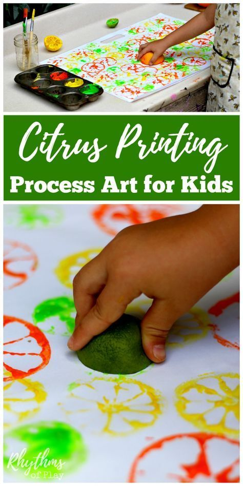 Citrus Printing Process Art for Kids