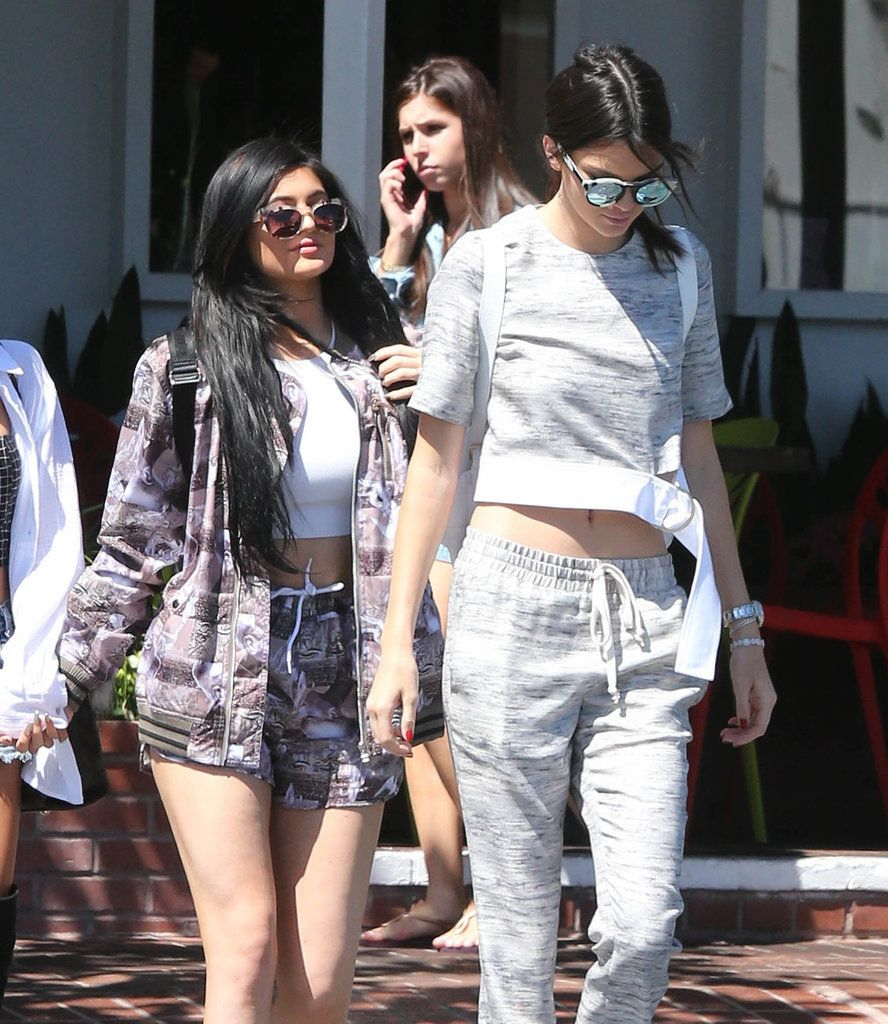 Kendall and Kylie Jenner Designing in Matching Sets | POPSUGAR Fashion