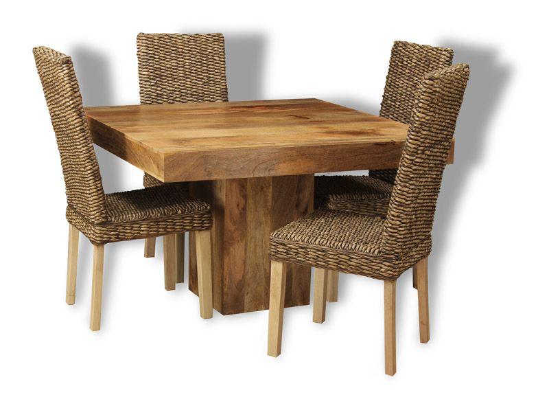 Cube Mango Wood Dining Chair//Solid Mango Wood Dining Room Chair//Modern Dining Room Furniture