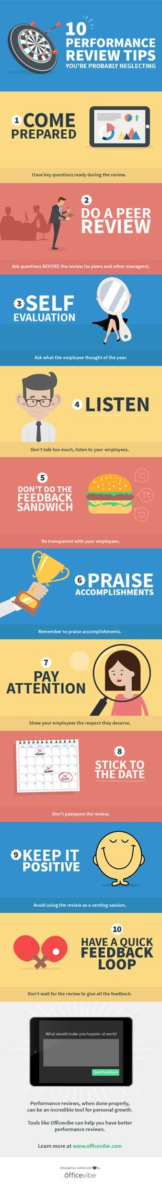Performancereview Tips YouRe Probably Neglecting Infographic