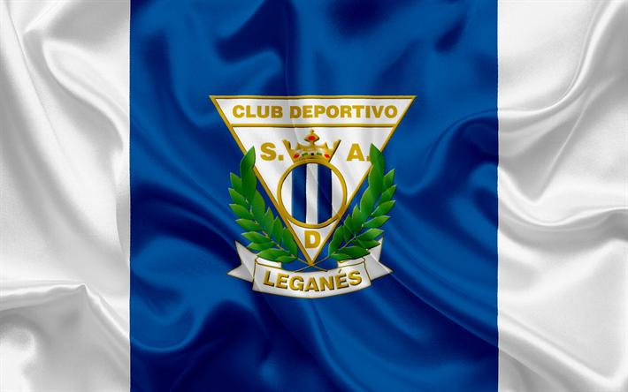 Download Wallpapers Leganes Football Club Emblem Leganes Logo La Liga Spain Lfp Spanish Football Championships Besthqwallpapers Com Leganes Sports Flags Custom Soccer