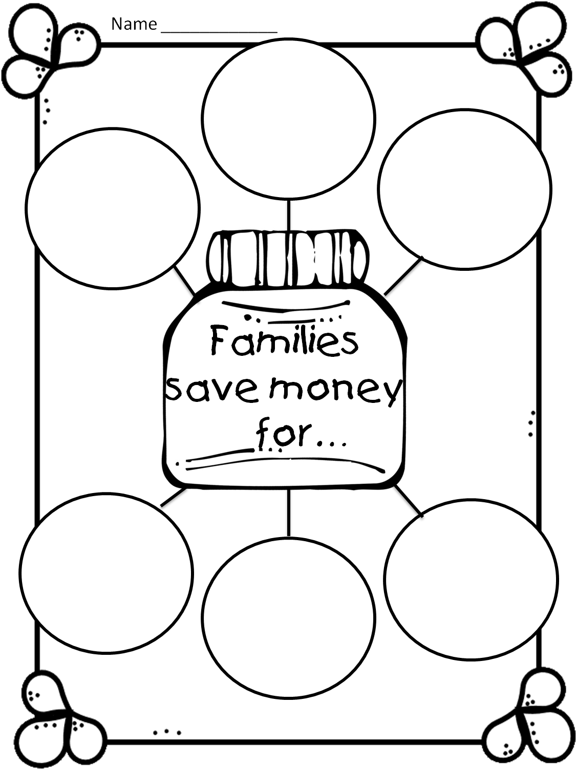 First Grade Wow: Money Game and Family Wants and Needs