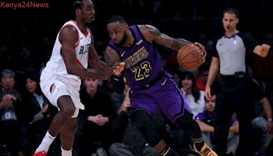 Lebron Passes Chamberlain As Lakers Beat Blazers Lakers Lebron Lebron James