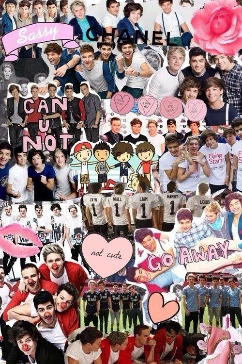 One Direction Collage. | 1D collages! in 2019 | One ...One Direction 2013 Collage Wallpaper