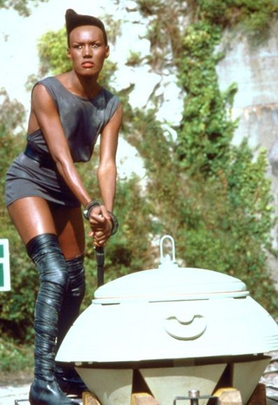 The most badass Bond Girl: Grace Jones in 'A View to a Kill' 1985.