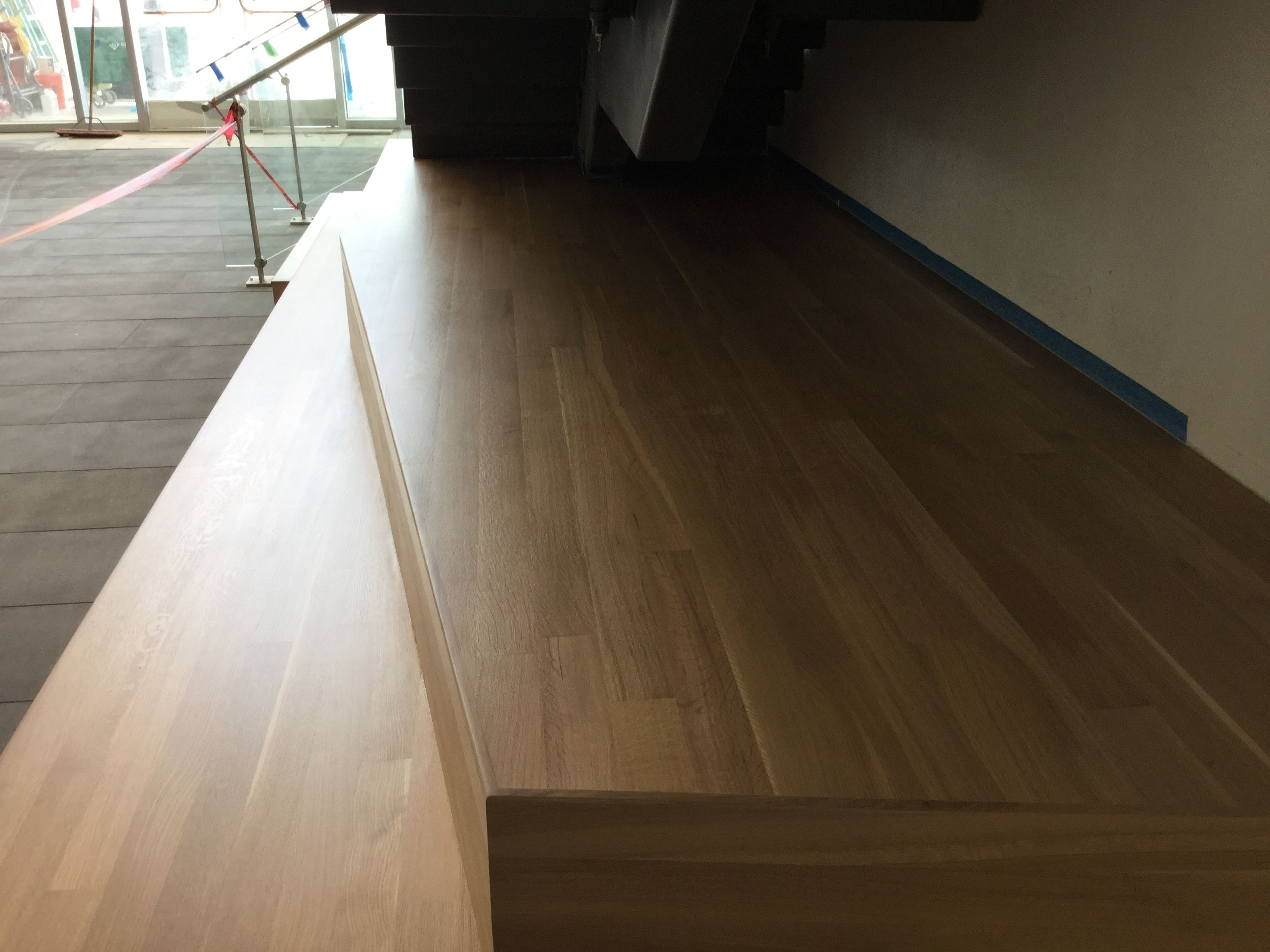 Stair Plinth With Seating Stair Treads Stairs Hardwood Floors   Hardwood Floor Stair Treads   Dark Oak   Hickory   Vinyl   Red Oak   Pergo Floor