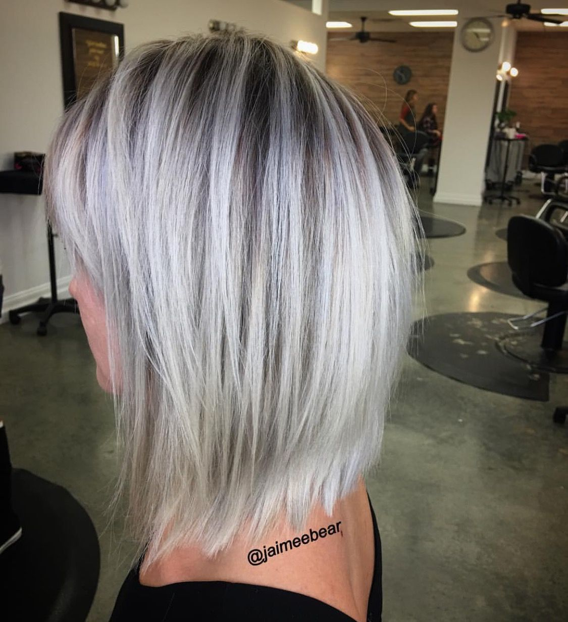 Blonde lob with shadow root | Hair all in 2019 | Hair ...