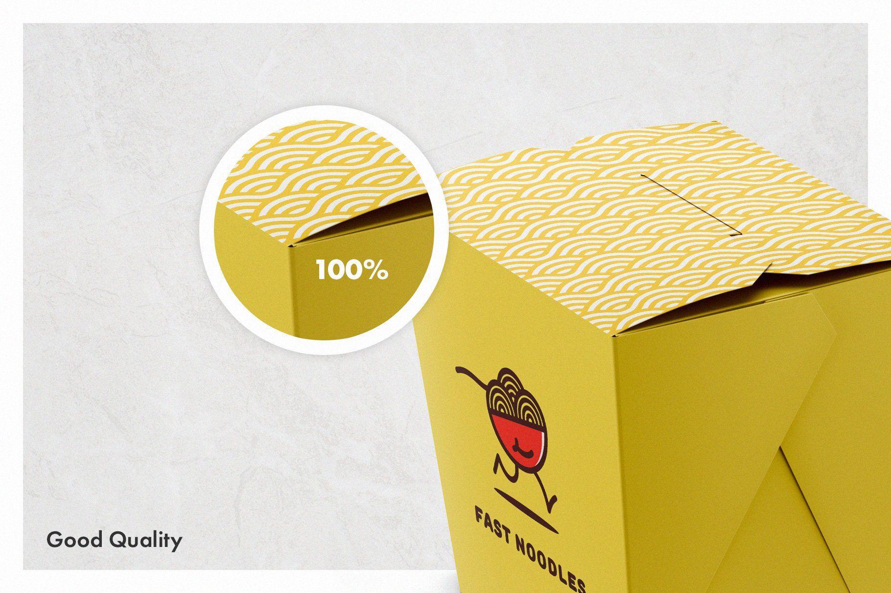 Download Noodles Box Mockup Set Ide Kemasan Desain Kemasan