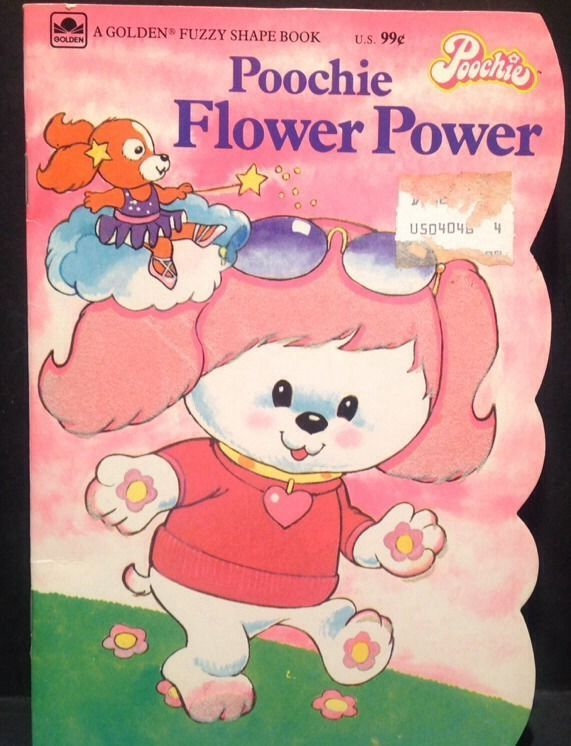 Vintage 80s Pink White Dog Poochie W Sunglasses Flower Book