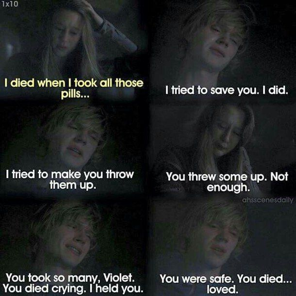 American Horror Story Tate and Violet Quotes | AMERICAN ...