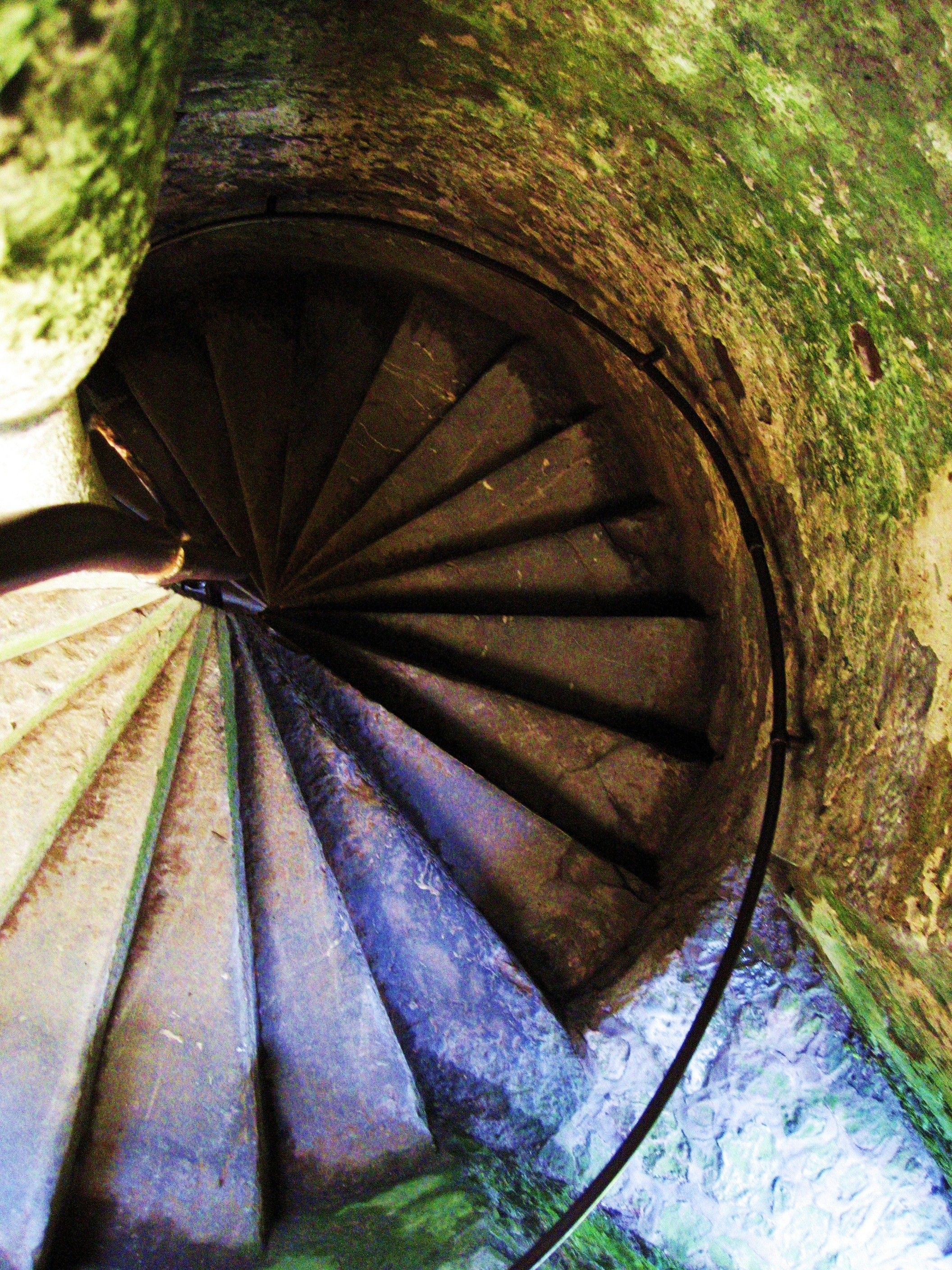 Blarney Castle spiral stairs. looks pretty, but I'm glad I don't have steps like these in my house. Navigating back down is a little tricky (especially while taking this photo)!
