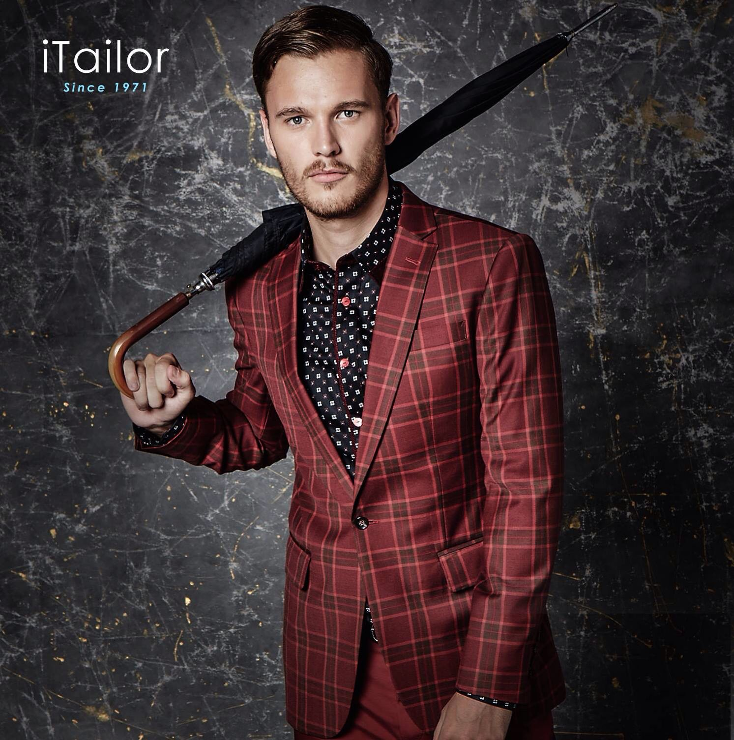 ITailor Red Check Suit | Men's tuxedo styles, Fashion