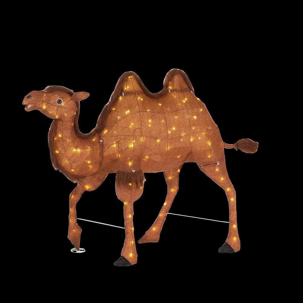 Holiday Christmas Indoor Outdoor Lighted Nativity Scene Camel Yard Lawn  Decor #Unbranded