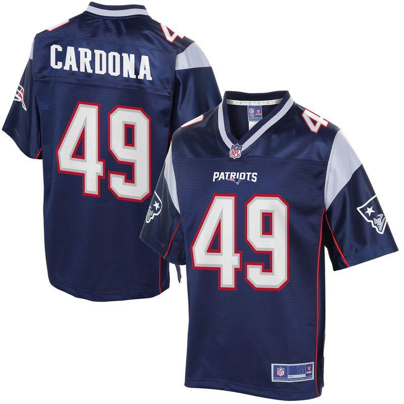 meet 8d281 f7fcb Men's New England Patriots Joe Cardona NFL Pro Line Navy ...
