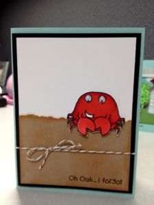 Karen's Kraft Room: Oh Crab I forgot with Copic markers