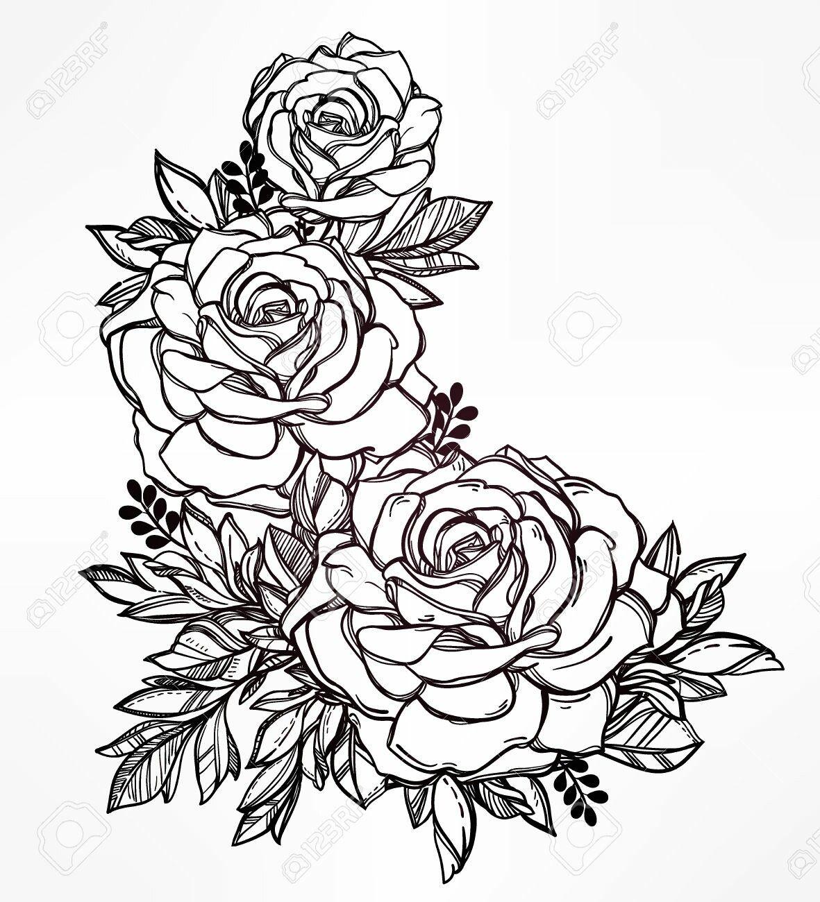 Cool Art Hip Tattoo Designs Rose Tattoos Hip Tattoo