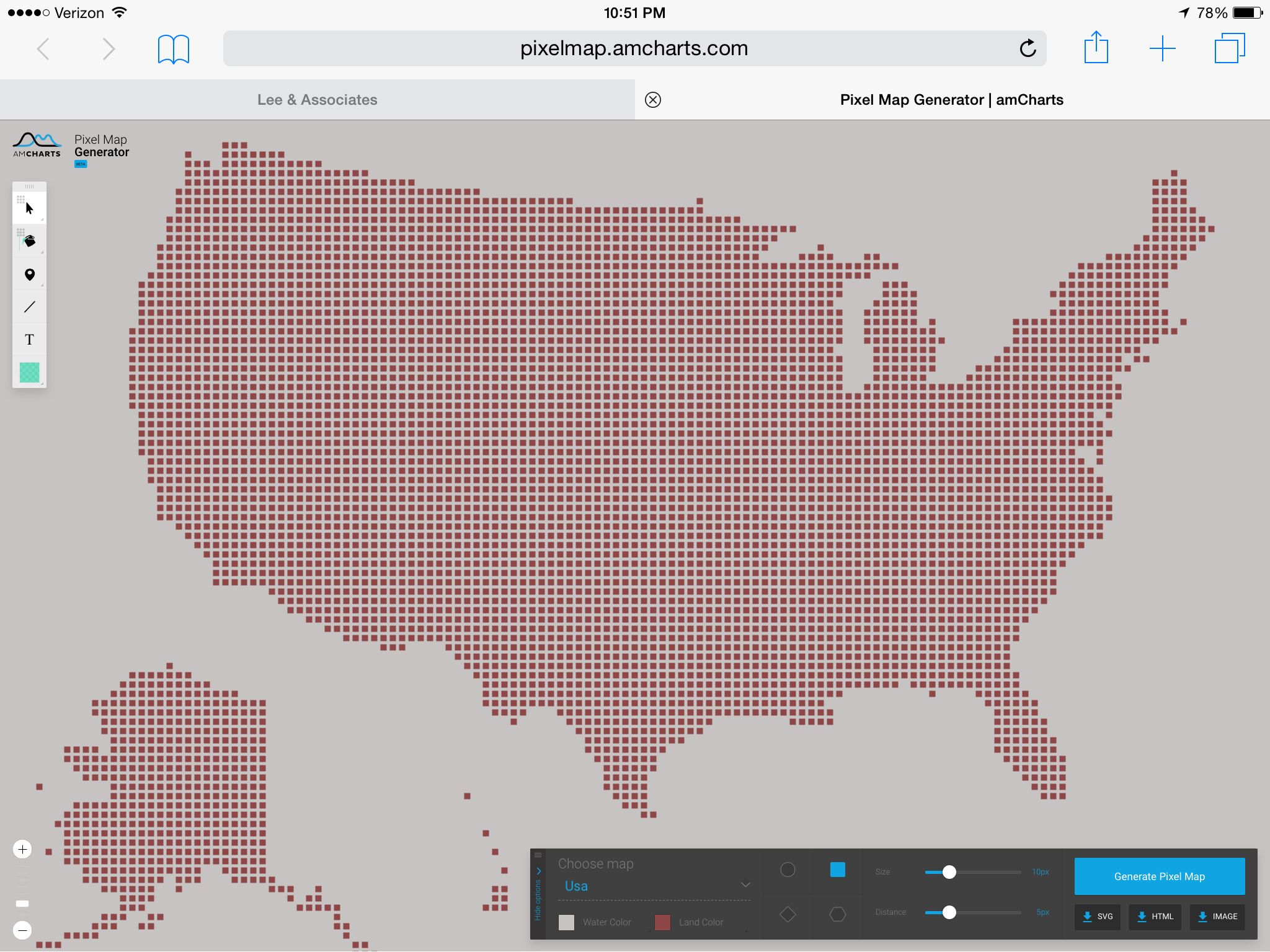 Pixel Map Wizard create custom pixel maps great for commercial