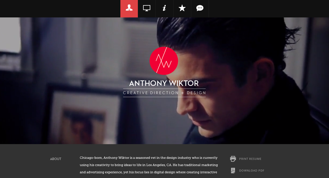 The 35 Best Personal Websites We Ve Ever Seen Personal Resume