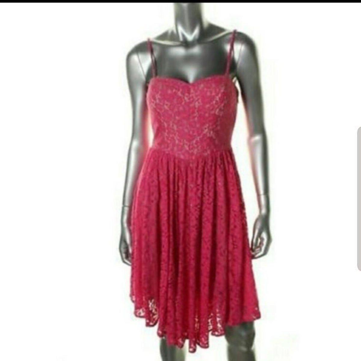 Betsey Johnson pink lace dress 10 NWT #rosaspitzenkleider