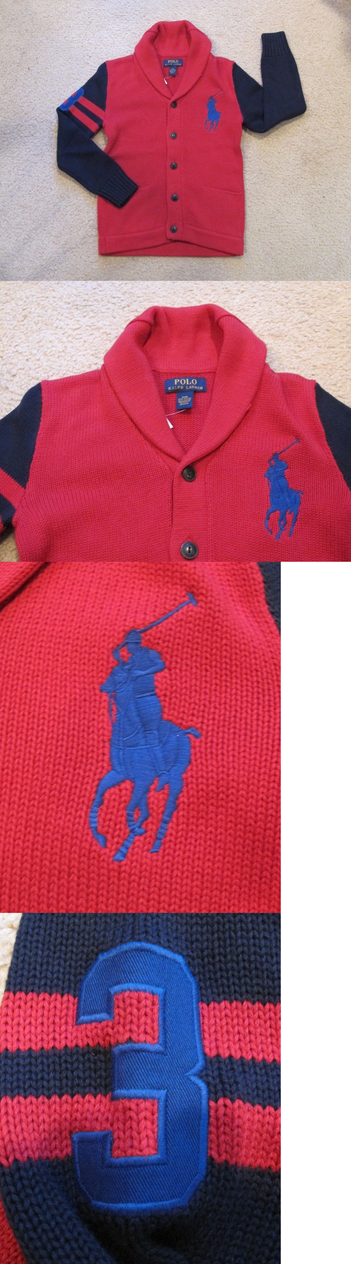 Sweaters 51946: Youth Boys Small (8) Polo Ralph Lauren Big Pony ...