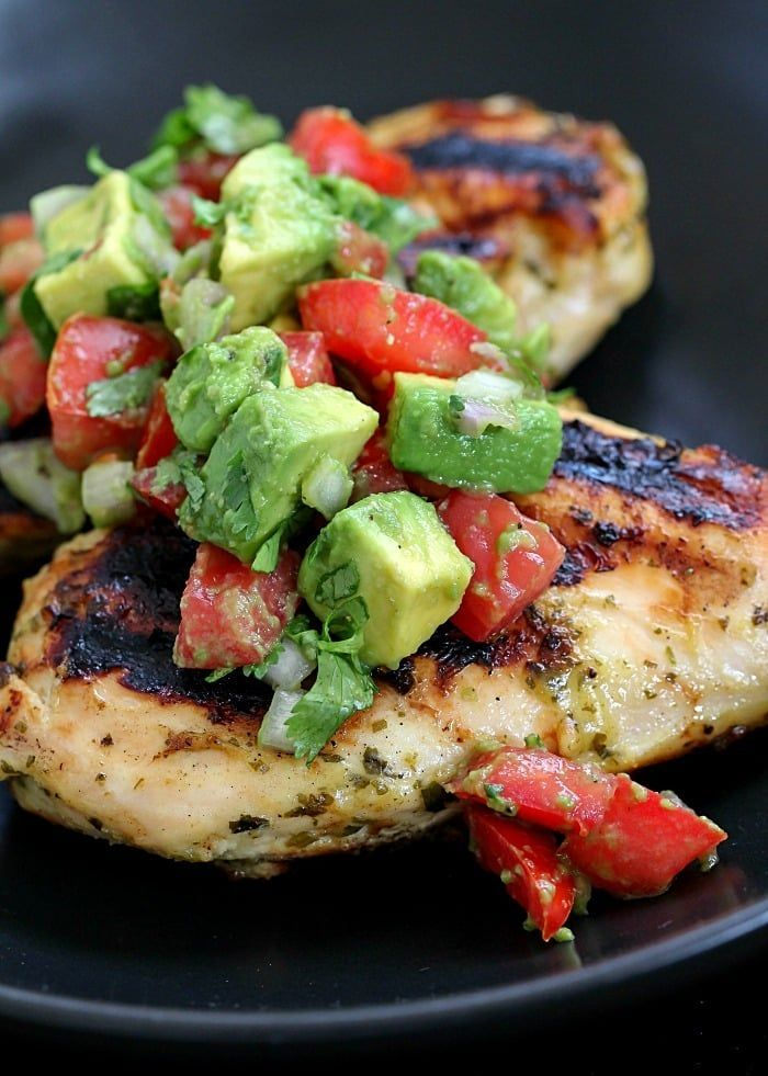 Cilantro-Lime Chicken with Avocado Salsa images
