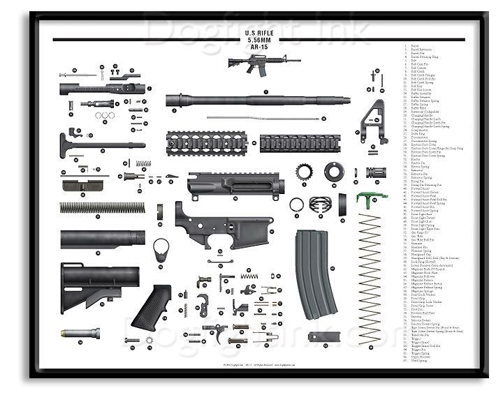 Ar Lower Parts Exploded 15 Diagram