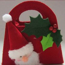 HchHomeDecor Santas Bags,Felted Santas Ornament,Felt Santa Claus - Xinxiang Huacheng Home Decoration Co.,Ltd