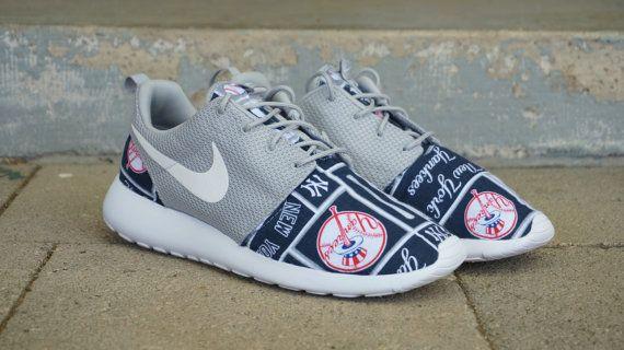 sale retailer 95bdc 11403 New Nike Roshe Run Custom New York Yankees Or Any by JBCustomKicks