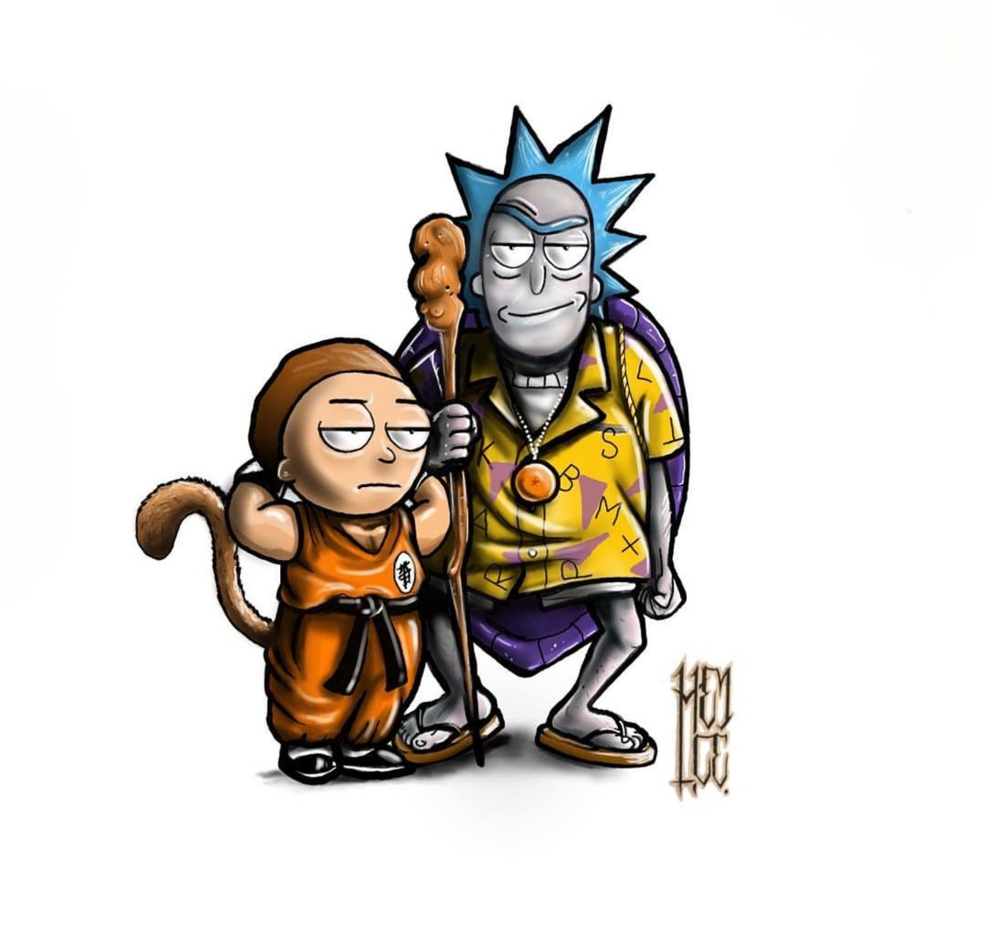 The Best Rick And Morty Dragon Ball Z  PNG