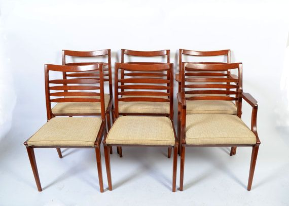 Statton Cherry 6 Dining Chairs Mid Century By Hearthsidehome