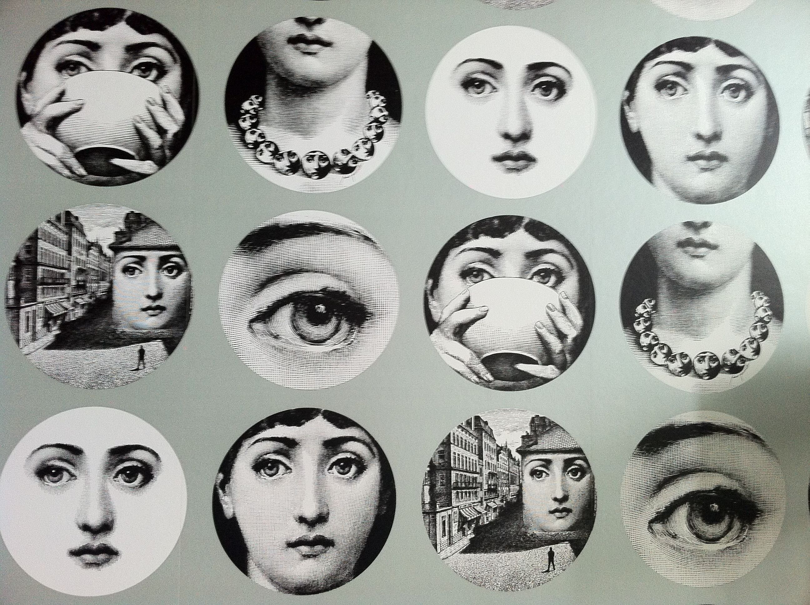 Excellent Fornasetti Faces Wallpaper Kb45 Roccommunity