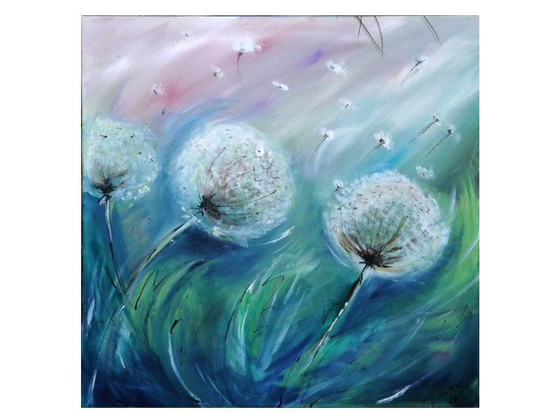 P Pusteblumen 100 X 100 Acryl Auf Leinwand P Blumen Malen