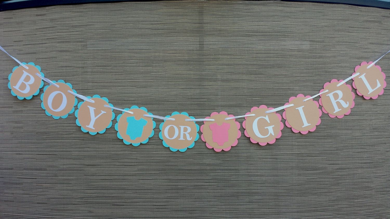 Gender Reveal Banner/ Boy or Girl Banner/ Gender Reveal Party Decor/ Baby Shower Banner