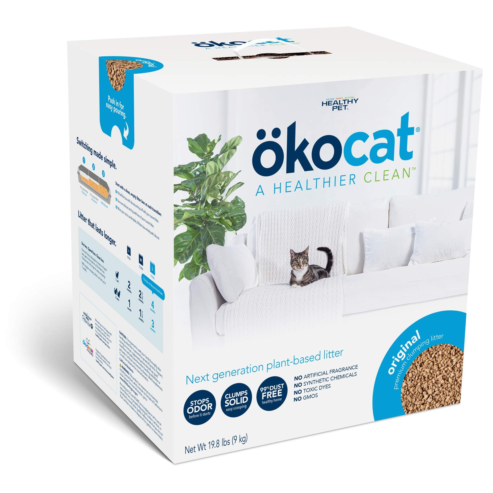 ökocat Natural Wood Clumping Cat Litter (Package may vary