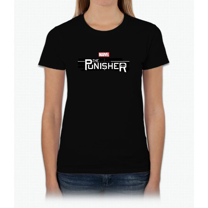 The Punisher Warzone Skul Womens T-Shirt