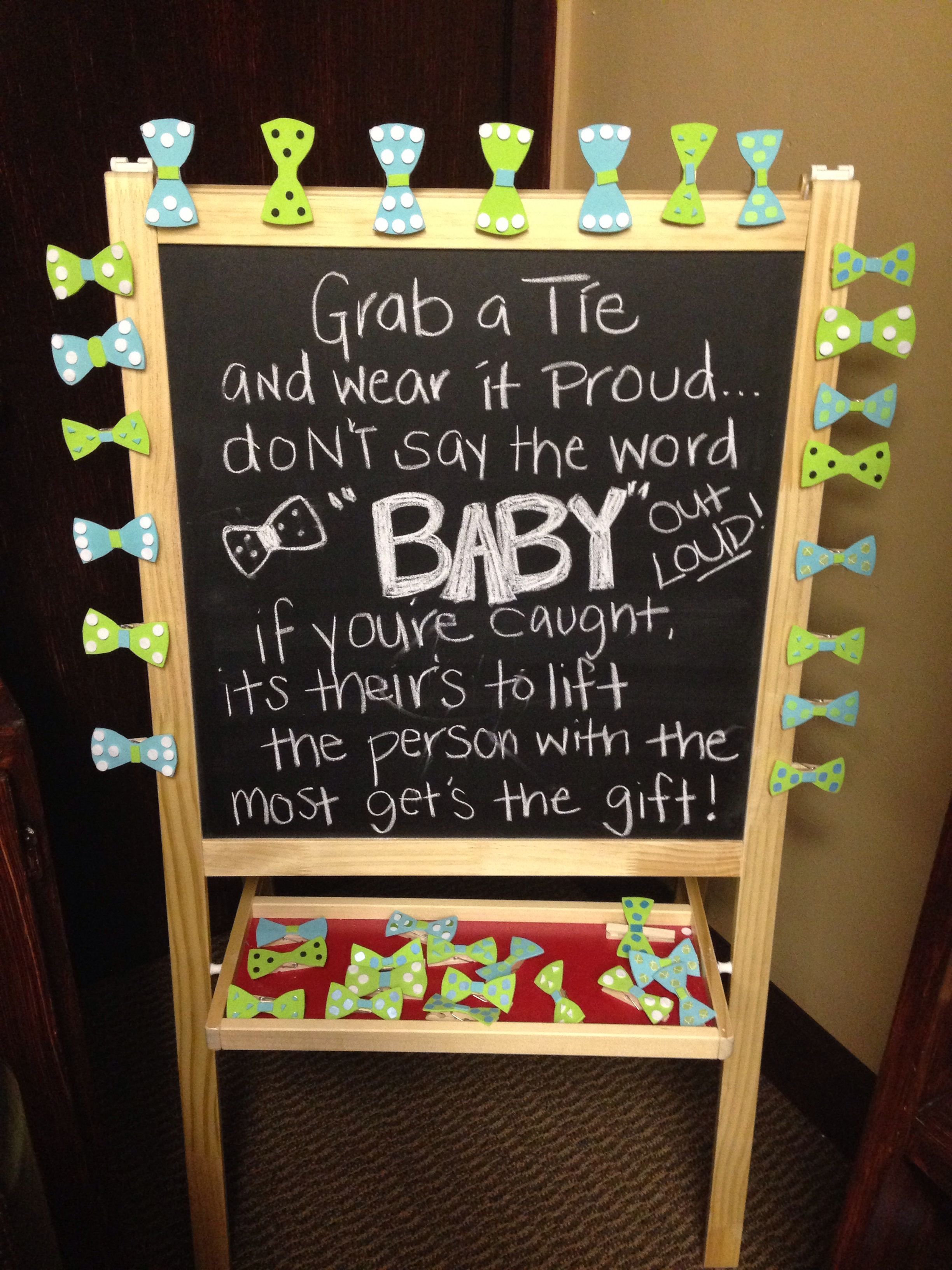 Baby Shower Game Little Man Themed With Bow Ties And