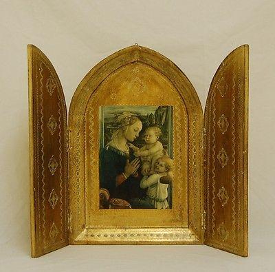 Antique Vintage Italian Florentine Italy Religious Icon Wall Art ...
