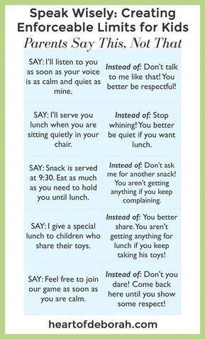 The SECRET Way to Discipline Kids Without Yelling: Enforceable Limits #parenting