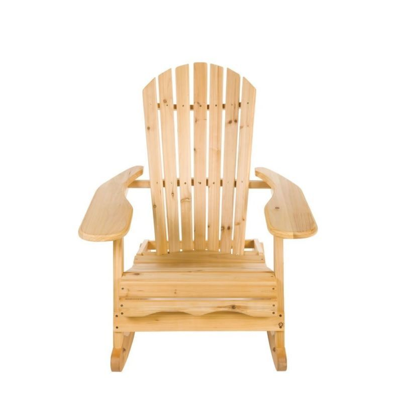 Terrific Wooden Garden Chair Rocking Rocker Solid Wood Relaxer Creativecarmelina Interior Chair Design Creativecarmelinacom