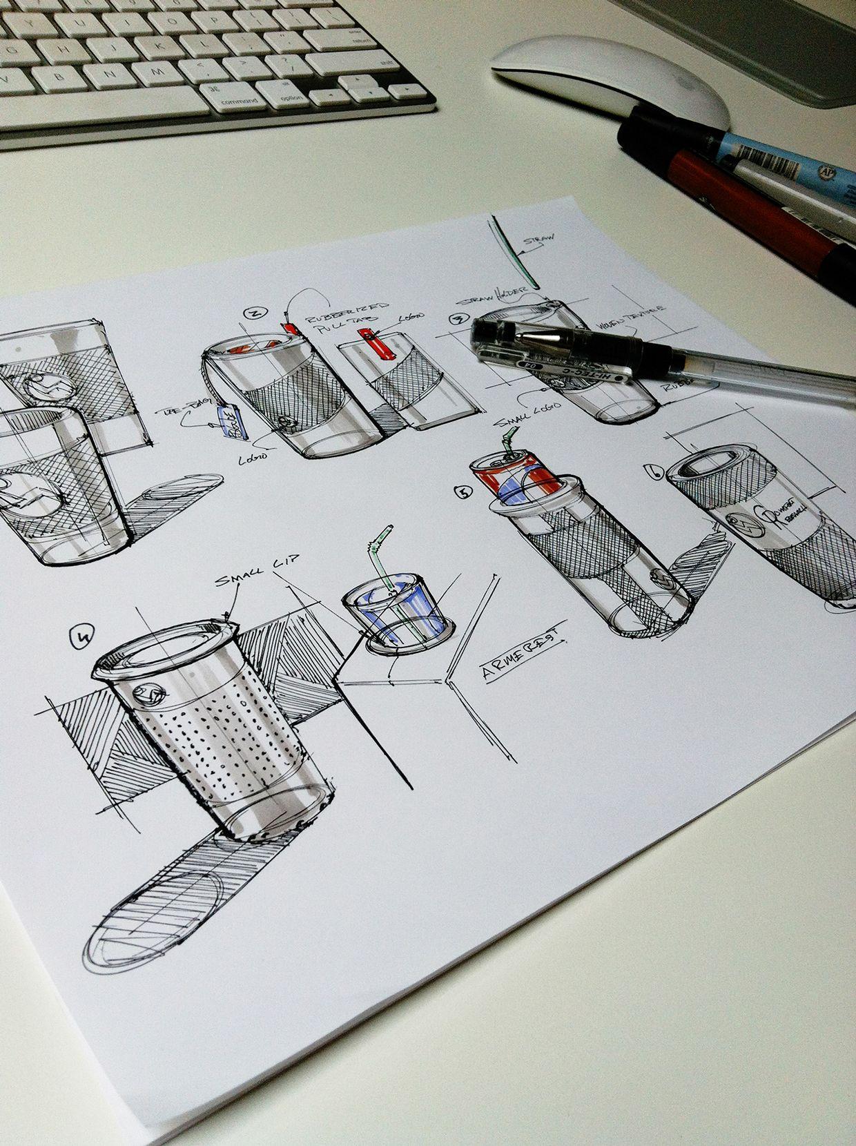 Fun Stuff on Behance | Skizze | Pinterest | Product design sketching ...