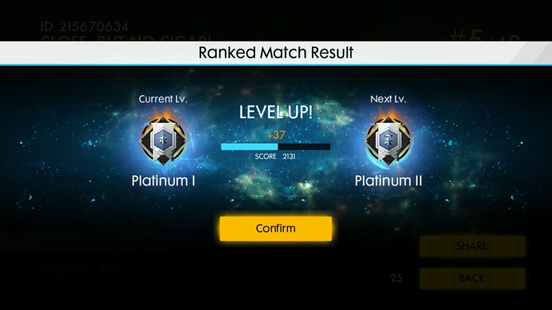 Ranked Free Fire Platinum Id Hexagon888 Game Wallpaper Iphone Fire Level Up