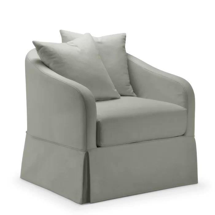 Chaffin Slipcover Swivel Barrel Chair Swivel Barrel Chair Barrel Chair Chair Upholstery
