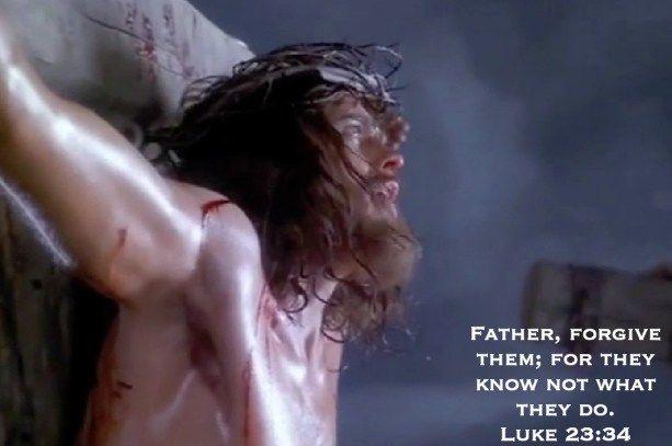 Image result for image of jesus uttering father forgive them