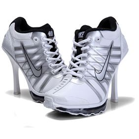 finest selection 99fb4 4fd9c Nike Air Max 2009 High Heels White Black AJH1123 jordan heels for women