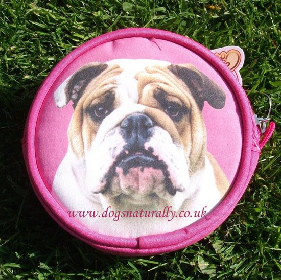 by Category > Gift Purses > English Bulldog Dog Gift Purse (Pink