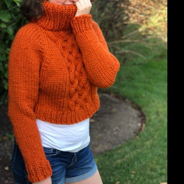Photo of KNITTING PATTERN ** Easy Eyelet Yoke Sweater pattern, Beginner yoke sweater, beginner yoke knit, top down knit sweater, knit sweater diy