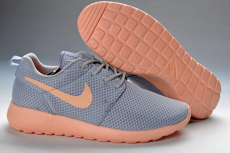 Nike Roshe Gray And Peach