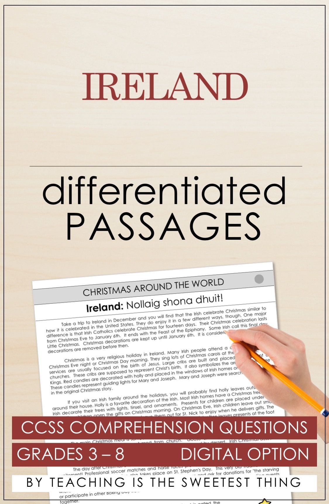 Christmas Around The World Passages Comprehension Questions
